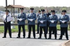 Veterans Memorial at Windward Beach Honor Guard