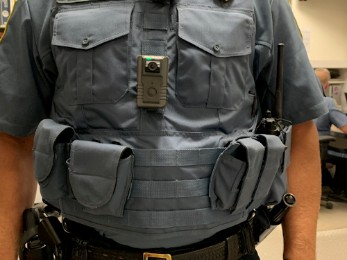 How it is worn by Officers.